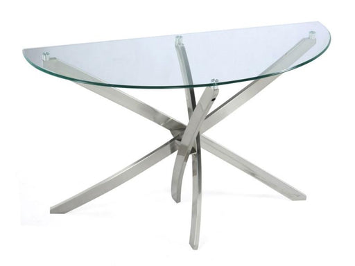 Zila Sofa Table tempered glass disk top - MJM Furniture