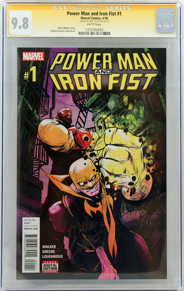 Power Man and Iron Fist #1, signed by Mike Colter