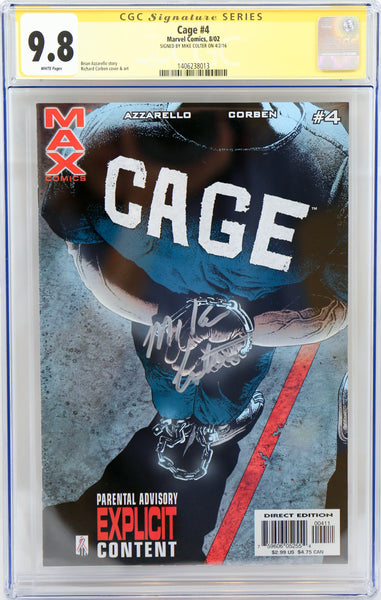 Cage #4, signed by Mike Colter
