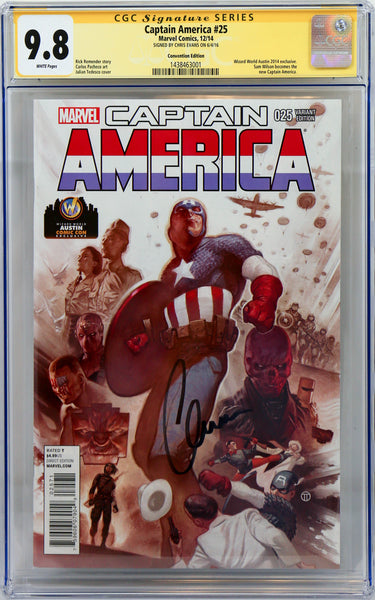 Captain America #25, signed by Chris Evans
