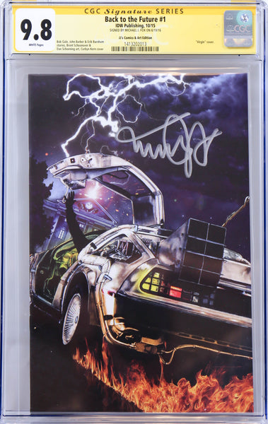Back to the Future #1, signed by Michael J. Fox