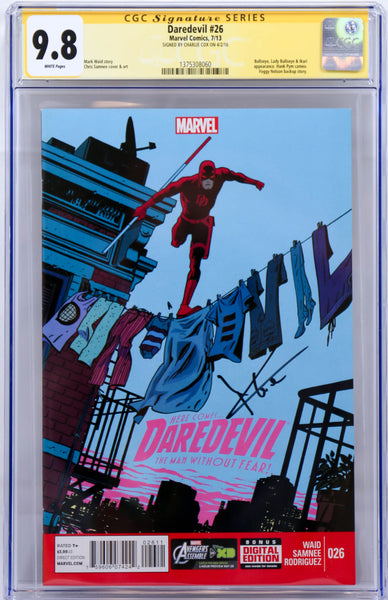 Daredevil #26, Signed by Charlie Cox