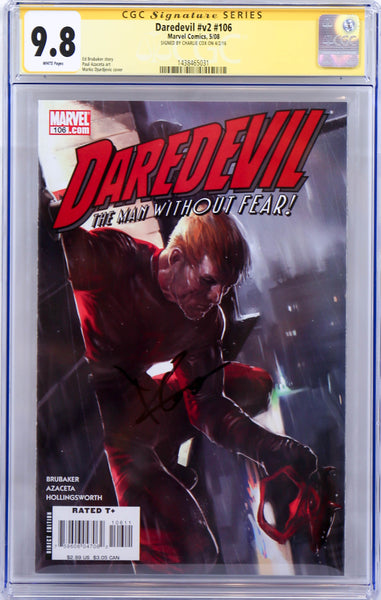 Daredevil #v2 #106, Signed by Charlie Cox