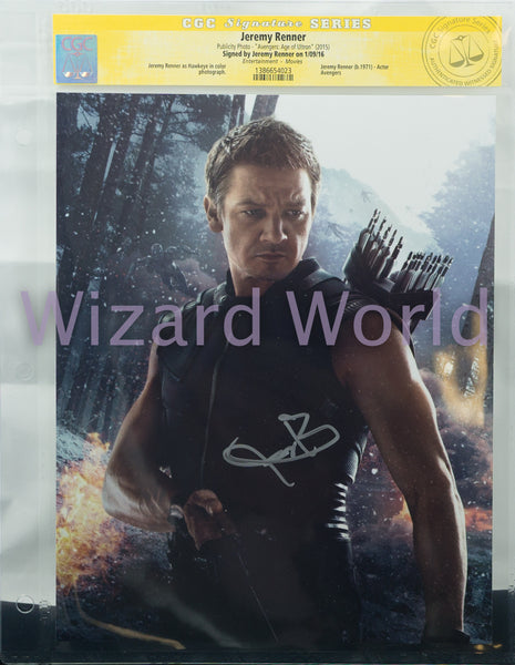 Avengers Jeremy Renner CGC Signed Photo -- Vertical