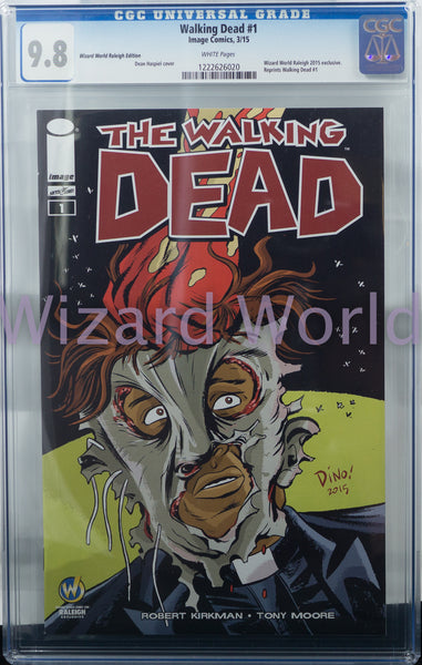 The Walking Dead #1 CGC Comic Book Dean Haspiel Variant Cover