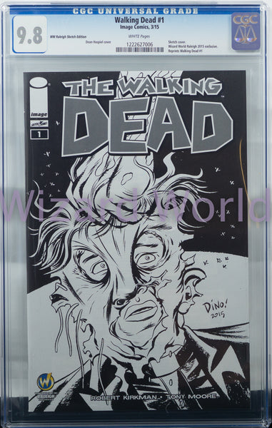 The Walking Dead #1 CGC Comic Book Dean Haspiel Sketch Variant Cover