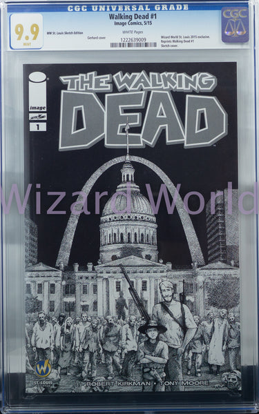The Walking Dead #1 CGC Comic Book Gerhard Sketch Variant Cover