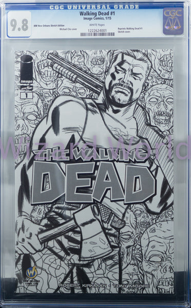 The Walking Dead #1 CGC Comic Book Michael Cho Sketch Variant Cover