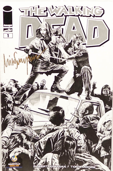 The Walking Dead, signed comic book by Mico Suayan