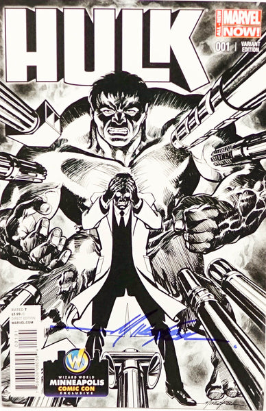 Hulk, signed comic book by Mike Grell