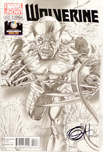 Wolverine, signed comic book by Greg Horn