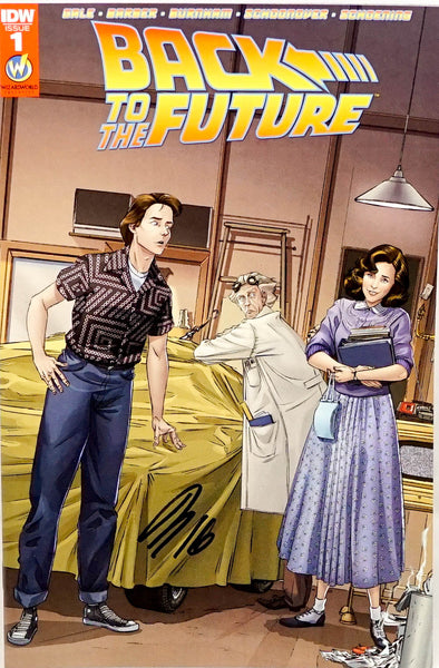 Back to the Future, signed comic book by Luis Antonio Delgado