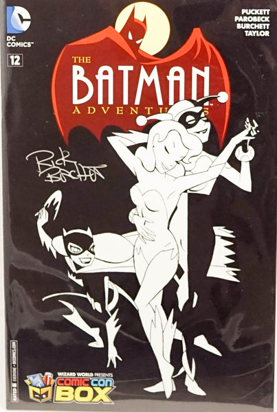 The Batman Adventures, signed comic book by cover artist Rick Burchett