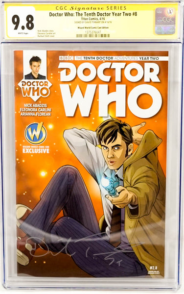 Dr Who, signed CGC comic book by David Tennant