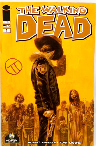 The Walking Dead, signed comic book by Totino Tedesco