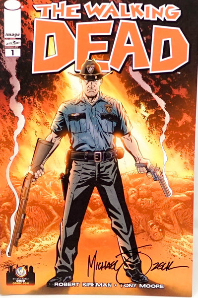 The Walking Dead: #1, signed comic book by Michael Zeck