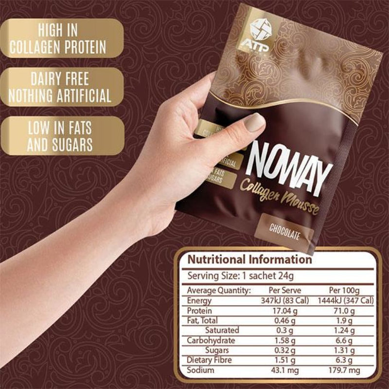 ATP Science Noway Collagen Mousse Nutritonal Information Panel