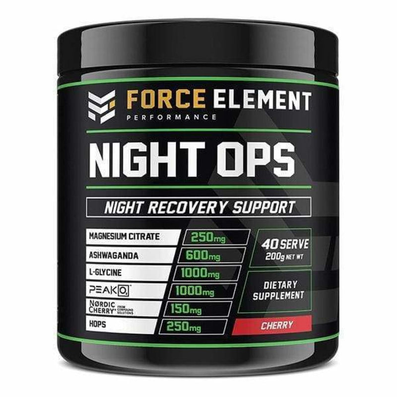 Night Ops by Force Element Performance | Sleep Support Supplement | Spartansuppz - Spartansuppz
