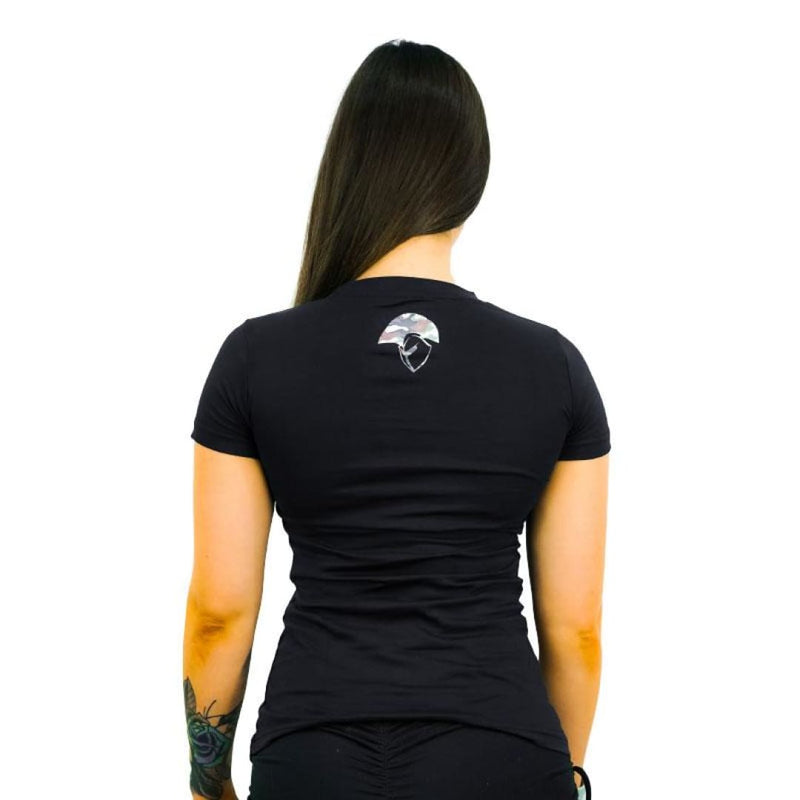 Spartans Womens Camo Tee - Black by Spartans Apparel