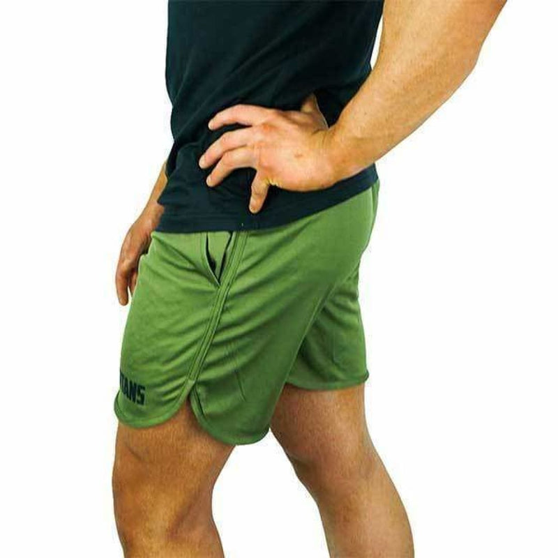 Spartans Mens Performance Shorts - Olive by Spartans Apparel | Clothing | Spartansuppz - Spartansuppz