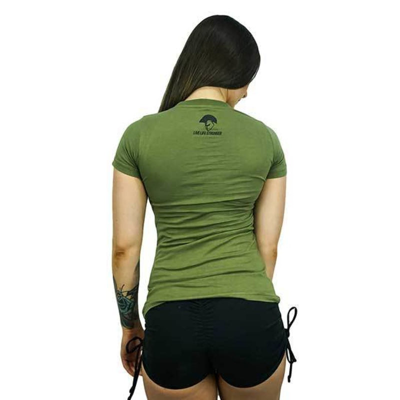 Spartans Womens Live Life Tee - Olive by Spartans Apparel | Clothing | Spartansuppz - Spartansuppz