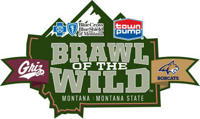 Brawl of the Wild Logo with Town Pump and the Grizzly and Bobcat Logos