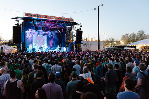 A crowd gathered during a  Treefort Music Festival performance.