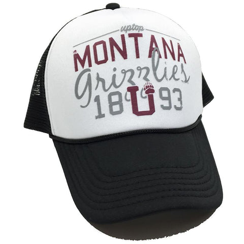 A foam trucker hat that says Montana Grizzlies - 1893.