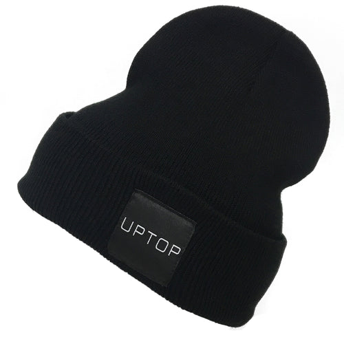 UPTOP SIMPLE BEANIE - BLACK/BLACK
