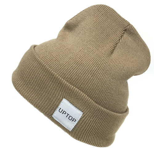 UPTOP SIMPLE BEANIE - KHAKI