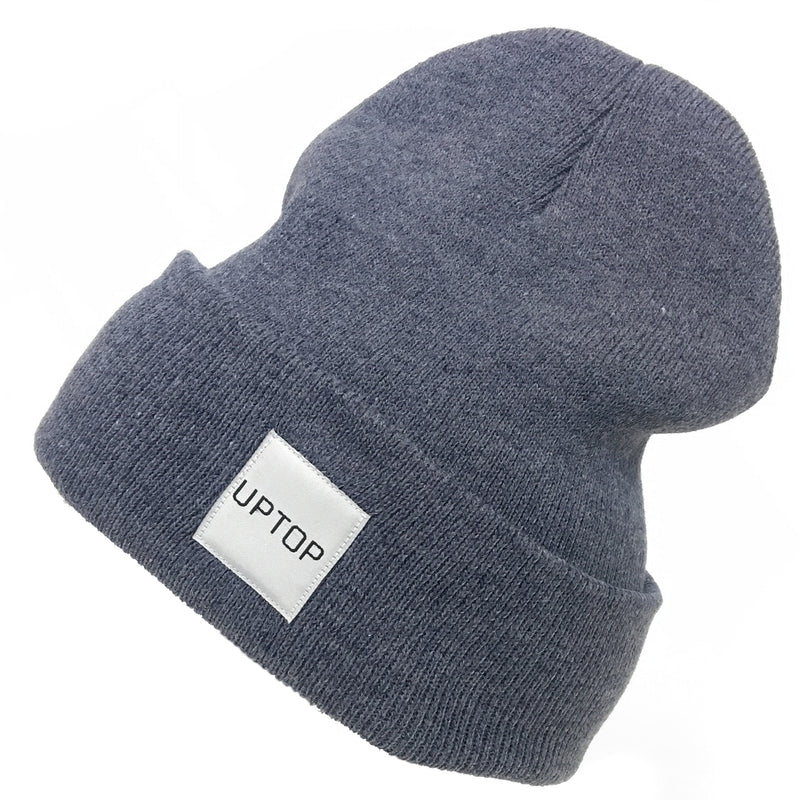 UPTOP SIMPLE BEANIE- HEATHR NAVY
