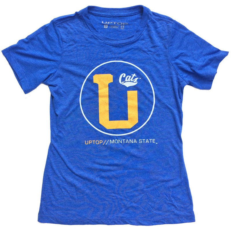 MONTANA STATE WOMEN'S UPTOP TRI-BLEND TEE
