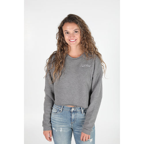 UPTOP STATEMENT CROPPED SWEATSHIRT