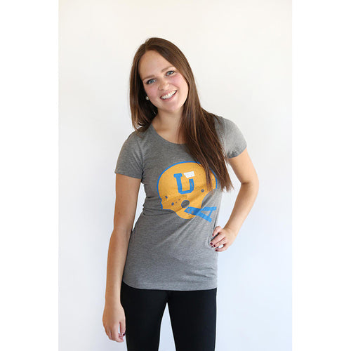 UPTOP WOMEN'S UT/MT HELMET TRIBLEND TEE - ROYAL/GOLD