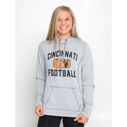 UPTOP / CINCINNATI FOOTBALL WOMEN'S TRIBLEND HOODIE