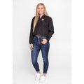 UPTOP / MONTANA TECH SIMPLE WOMEN'S 1/2 ZIP CROP WINDBREAKER