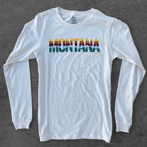UPTOP MONTANA SUNSET YOUTH LONG SLEEVE TEE
