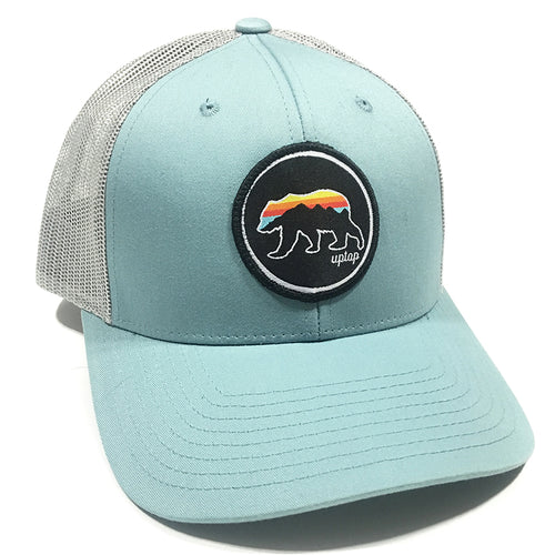 UPTOP GRIZZLY SUNSET LOW PROFILE TRUCKER HAT