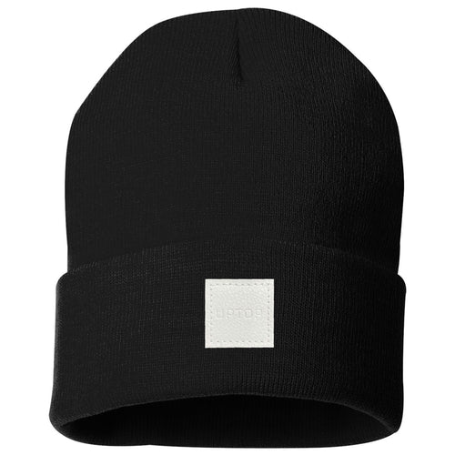 UPTOP LEATHER SIMPLE BEANIE