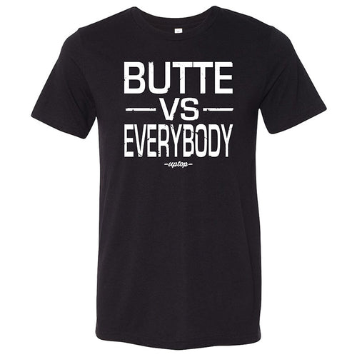 BUTTE VS EVERYBODY TRIBLEND TEE - BLACK