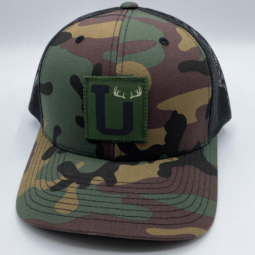 UPTOP SIMPLE ANTLERS RETRO TRUCKER HAT