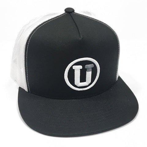 UPTOP CONTINENTAL TRUCKER HAT - BLACK/WHITE