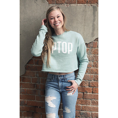 UPTOP ESSENTIAL CROPPED SWEATSHIRT