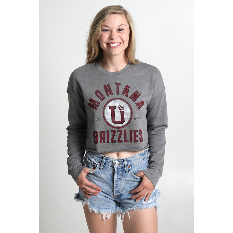 UPTOP // GRIZ HOME CROPPED SWEATSHIRT