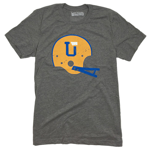 UPTOP UT/MT HELMET TRIBLEND TEE - ROYAL/GOLD