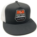 UPTOP FISHING 2.0 TRUCKER HAT -CHARCOAL/WHITE