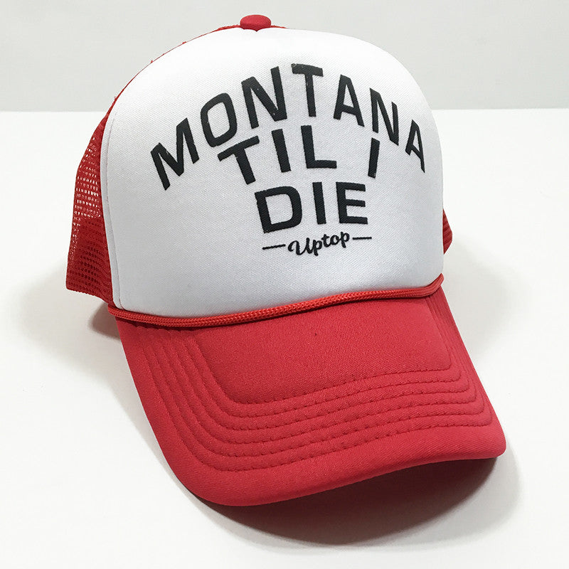 MONTANA TIL I DIE FOAM TRUCKER - RED/WHITE