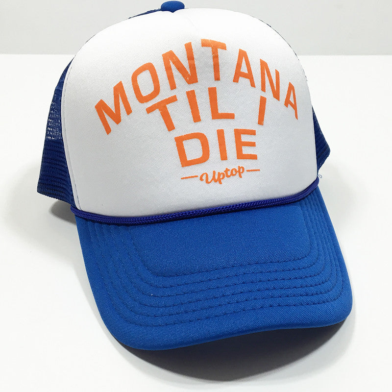MONTANA TIL I DIE FOAM TRUCKER - ROYAL/WHITE
