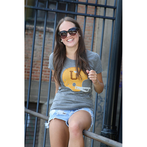 UPTOP WOMEN'S UT/MT HELMET TRIBLEND TEE - COPPER/GOLD