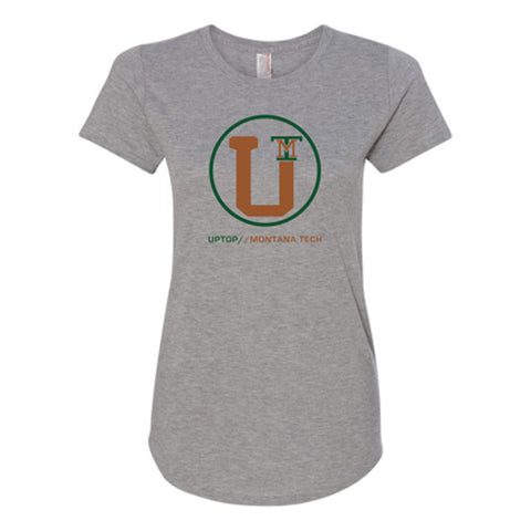 UPTOP WOMEN'S MONTANA TECH TRIBLEND TEE - GREY